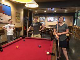 Playing Pool at the Peddler in Huntington