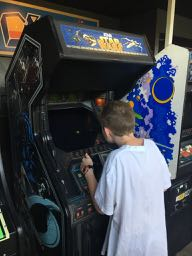 Kid at Quicksliver Playing Star Wars