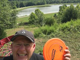 Disc golf at Barboursville Park on the back 9