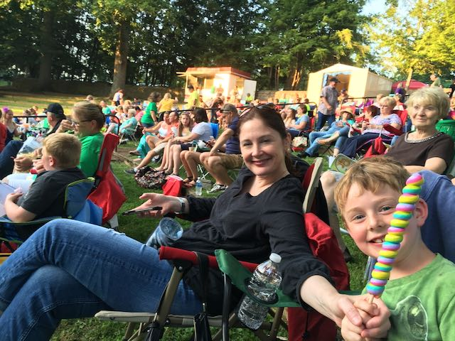 Watching a show at Ritter Park