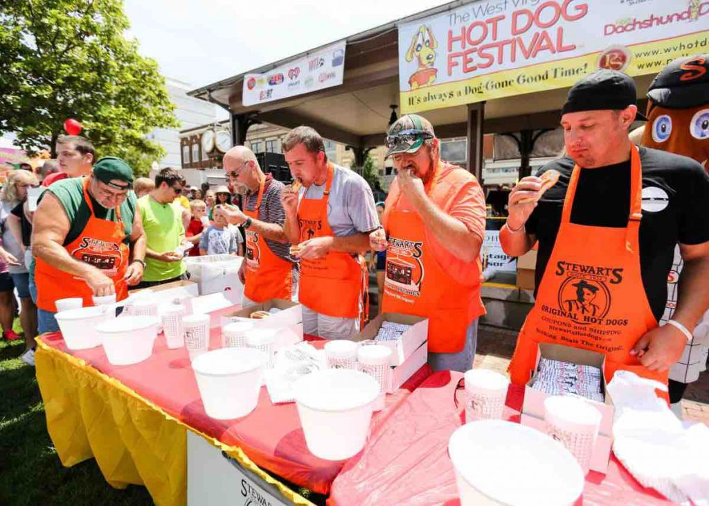 Hot Dog Festival is Fun in Huntington.  Proceeds benefit the Hoops Family Children's Hospital