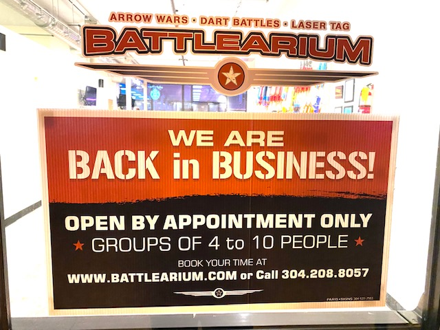 Open for Business by reservation.  One of the most Frequently Asked Questions is what are you hours?  We only book private parties.  Find out more at https://www.battlearium.com/book-now/